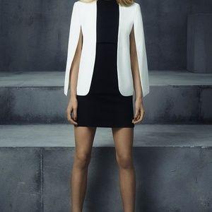 Zara Jackets & Coats - Zara White Cape Blazer Jacket with Slits